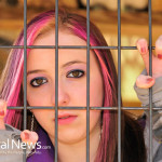 Caged-Fence-Teen-Girl-Depressed-Hair-Color