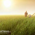 Family-Sunset-Field-Farm-Walking-Sunlight