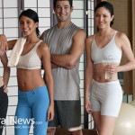 Friends-Fitness-Class-Sports-Bra-Yoga-Ball-Exercise