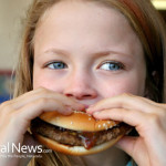 Gril-Kid-Child-Eating-A-Burger