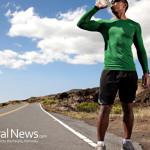 Man-Drinking-Water-Road-Running-Exercise-Training