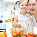 Mother-Daughter-Woman-Fruit-Vegetables-Kitchen