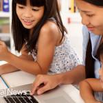 Mother-Family-Study-Children-Laptop