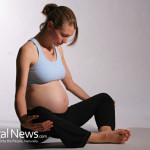 Pregnant-Woman-Stretchy-Pants-Stretch-Yoga-Exercise-Stomach