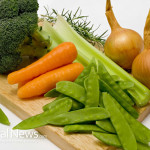 Vegetable-Cutting-Board-Broccoli-Onions-Peas-Carrots-Celery