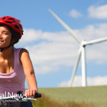 Wind-Power-Green-Energy-Woman-Bike-Helmut