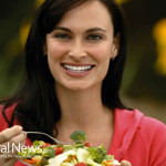 Woman-Happy-Broccoli-Salad-Bowl-Eating-Food