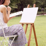 Woman-Painting-Outside