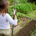 Woman-Proud-Home-Garden-Vegetables-Soil