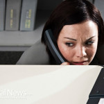 Woman-Scared-Office-Phone-Dial