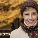 Woman-Scarf-Happy-Smile-Outdoors-Autumn