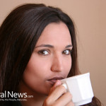 Woman-Sip-Coffee-Tea-Cup