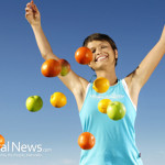Woman-With-Fruits-Happy