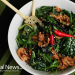 Asian-Dish-Chopstick-Spinach-Meat-Seeds