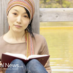 Asian-Woman-Read-Book-Dock-Water