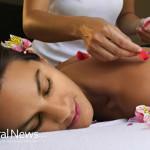 Asian-Woman-Spa-Massage-Flower-Pedals