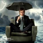 Businessman-Weather-Storm-Umbrella-Flood