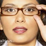 Woman-Adjust-Glasses-Business