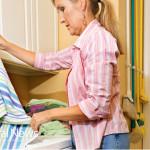 Woman-Laundry-Towels-Washing-Machine