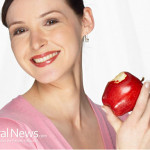 Woman-Teacher-Smile-Apple