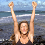 Woman-Victory-Fitness-Exercise-Ocean-Rocks